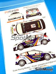 Racing Decals 43: Decals 1/24 scale - Ford Fiesta WRC Romania #12 - Francois Delecour (FR) - Montecarlo Rally 2014 - for Belkits kit BEL-003 image