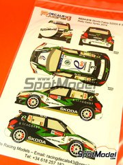 Racing Decals 43: Decals 1/24 scale - Skoda Fabia S2000 Ebo Enterprises #3 - Freddy Loix (BE) + Johan Gitsels (BE) - Ypres Rally 2014 - for Belkits references BEL-004 and BEL004