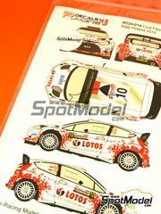 Racing Decals 43: Decals 1/24 scale - Ford Fiesta WRC Lotos #10 - Robert Kubica (PL) + Maciej Szczepaniak (PL) - Rally Poland 2014 - for Belkits reference BEL-003