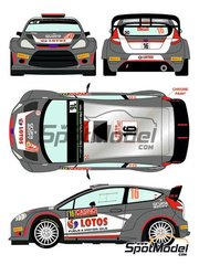 Racing Decals 43: Decals 1/24 scale - Ford Fiesta RS WRC Lotos #16 - Robert Kubica (PL) + Maciej Szczepaniak (PL) - Montecarlo Rally 2015 - for Belkits kit BEL-003