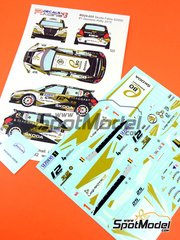 Racing Decals 43: Decoración escala 1/24 - Skoda Fabia S2000 Evo EBO Enterprise Nº 1 - Freddy Loix (BE) + Johan Gitsels (BE) - Rally Sezoens Belgica 2015 - para la referencia de Belkits BEL-004