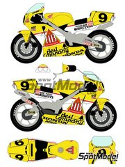 Racing Decals 43: Marking / livery 1/12 scale - Honda NSR500 HB #9 - Pierfrancesco Chili (IT) - Motorcycle World Championship 1989 - water slide decals and assembly instructions - for Hasegawa references 21504 and 21714