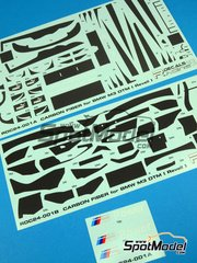 Racing Decals 43: Carbon fibre pattern decal 1/24 scale - BMW M3 - DTM - water slide decals - for Revell references REV07082 and REV07178 image