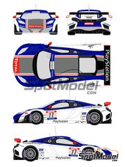 Racing Decals 43: Marking / livery 1/24 scale - McLaren MP4/12C GT1 PlayStation #17 - Sebastien Loeb (FR) + Vannelet - FFSA GT Tour 2012 - for Fujimi references FJ125558, 125558 and RS-44