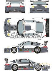 Racing Decals 43: Decals 1/24 scale - Porsche 911 GT3 Magnus Racing #44 - René Rast (DE) + John Potter (US) + Andy Lally (US) + Richard Lietz (AT) - 24 Hours Daytona 2012 - water slide decals and assembly instructions - for Fujimi reference FJ123905