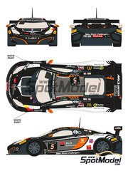 Racing Decals 43: Marking / livery 1/24 scale - McLaren MP4-12C ALD Automotive #5 - Gregory Guilvert (FR) + David Dermont (BE) + Koen Wauters (BE) + Frederic Vervisch (BE) - 24 Hours SPA Francorchamps 2013 - water slide decals and assembly instructions - for Fujimi kits FJ125633, FJ125558 and FJ12587