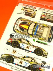 Racing Decals 43: Marking / livery 1/24 scale - BMW Z4 GT3 Randstad #66, 77 - Markus Palttala (FI) + Dirk Werner (DE) + Lucas Luhr (DE), Maxime Martin (BE) + Jörg Müller (DE) + Augusto Farfus (BR) - 24 Hours SPA Francorchamps 2014 - water slide decals and assembly instructions - for Fujimi kits FJ17009, FJ17010, FJ17015, FJ12593, FJ125930 image