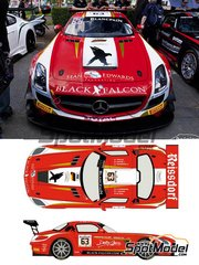 Racing Decals 43: Marking / livery 1/24 scale - Mercedes Benz SLS AMG GT3 Reissdorf #63 - Adam Christodoulou (GB) + Yelmer Buurman (NL) + Mike Parisy (FR) - 24 Hours SPA Francorchamps 2014 - water slide decals and assembly instructions - for Fujimi references FJ125657 and FJ12569
