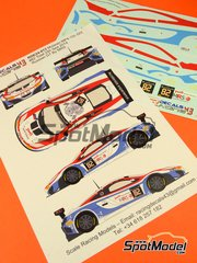 Racing Decals 43: Marking / livery 1/24 scale - McLaren MP4-12C GT3 MRS Accelerate experience #82 - Florian Spengler (DE) + Alexei Vasiliev (RU) + Kazimieras 'Kazim' Vasiliauskas (LT) + Marko Asmer (EE) - 24 Hours SPA Francorchamps 2014 - water slide decals and assembly instructions - for Fujimi references FJ12555, 12555, FJ125633, 125633, 12563, RS-41, FJ125879, 125879 and RS-62