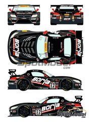 Racing Decals 43: Marking 1/24 scale - BMW Z4 GT3 Borla Exhaust #32 - Pirelli World Challenge 2015 - water slide decals and assembly instructions - for Fujimi kits FJ125930 and FJ126081