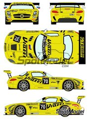 Racing Decals 43: Marking / livery 1/24 scale - Mercedes Benz SLS AMG GT3 Viatti #70 - Blancpain Endurance Series 2015 - water slide decals and assembly instructions - for Fujimi references FJ125657 and FJ125695 image
