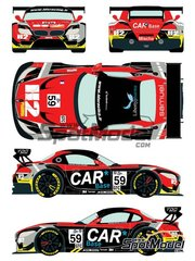 Racing Decals 43: Marking / livery 1/24 scale - BMW Z4 GT3 Liberypharma #59 - E. Dermont (FR) + F. Perera (FR) + D. Lunardi (FR) - European Le Mans Series 2015 - water slide decals and assembly instructions - for Fujimi references FJ12556, FJ125565, FJ12568, FJ125688, FJ125763, FJ125770, FJ12593, FJ125930, FJ126081, FJ12612, FJ170015, FJ170022, FJ170091, FJ170107, FJ189833, FJ189857, FJ189901 and FJ189970 image