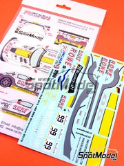Racing Decals 43: Marking 1/24 scale - Mercedes Benz SLS AMG GT3 ROWE #99 - Blancpain Endurance Series 2015 - water slide decals and assembly instructions - for Fujimi kits FJ125657 and FJ125695