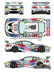 Racing Decals 43: Marking / livery 1/24 scale - BMW M6 GTD Turner Motorsport Liqui Moly #96 - Mark Kvamme (US) + Don Yount (US) + Jens Klingmann (DE) + Martin Tomczyk (DE) + Cameron Lawrence  (US) - 24 Hours of Daytona 2018 - water slide decals and placement instructions - for Platz reference PN24001