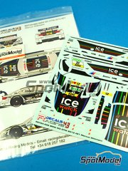 Racing Decals 43: Marking / livery 1/24 scale - BMW M3 Ice Watch #21 - Marco Wittmann (DE) - DTM 2013 - for Revell kits REV07178 and REV07082  image
