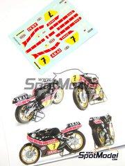 Ragged Edge Designs: Decals 1/12 scale - Yamaha YZR500 Akai #7 - Barry Sheene (GB) - World Championship 1980