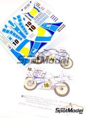 Ragged Edge Designs: Decals 1/12 scale - Yamaha YZR500 Gauloises #10 - Marc Fontan (FR) - World Championship 1983