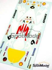 Ragged Edge Designs: Decals 1/12 scale - Honda NSR500 Shell #9 - Leon Haslam (GB) - World Championship 2001