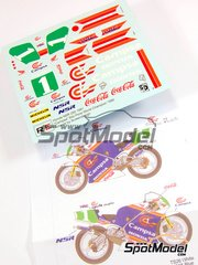 Ragged Edge Designs: Decals 1/12 scale - Honda NSR250 Campsa #1 - Alfonso 'Sito' Pons (ES) - World Championship 1990