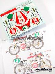 Ragged Edge Designs: Decals 1/12 scale - Honda NSR250 Lucky Strike #3 - Jacques Cornu (CH) - World Championship 1989