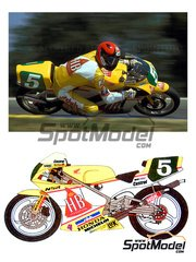 Ragged Edge Designs: Decals 1/12 scale - Honda NSR250 HB #2 - Reinold Roth (DE) - World Championship 1989 and 1990