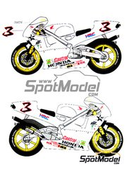 Ragged Edge Designs: Decals 1/12 scale - Honda NSR500 #3 - Luca Cadalora (IT) - World Championship 1996