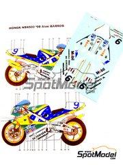 Ragged Edge Designs: Decals 1/12 scale - Honda NSR500 Team Gresini Mobil #9 - Alex Barros (BR) - World Championship 1998
