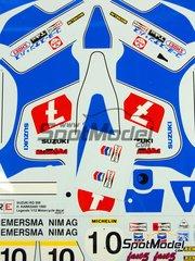 Ragged Edge Designs: Decals 1/12 scale - Suzuki RG500 XR34 Works team, Pons Sport #7, 10 - Hiroyuki Kawasaki (JP), Wil Hartog (NL) - Japan Grand Prix 1980, 1981