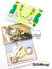 Ragged Edge Designs: Decals 1/12 scale - Yamaha YZR500 BP #8 - Dave Potter (GB) - World Championship 1981