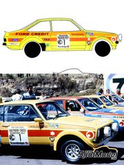Ragged Edge Designs: Decals 1/24 scale - Ford Escort Mk2 RS1800 Colin Bond Team #1 - Björn Waldegård (SE) + Hans Thorszelius (SE) - Southern Cross Rally 1979 - for Revell references REV07374 and 7374
