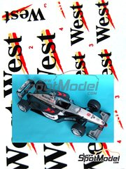 Reji Model: Marking / livery 1/20 scale - McLaren Mercedes MP4/13 West - FIA Formula 1 World Championship 1998 - water slide decals and assembly instructions - for Tamiya references TAM20046, TAM20047 and TAM89718