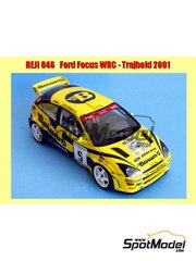 Reji Model: Decals 1/24 scale - Ford Focus WRC Barum rally team #2, 5 - Václav Pech (CZ) + Petr Uhel (CZ) - FIA WRC World Rally Championship 2001 and 2002