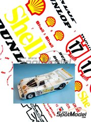 Reji Model: Marking / livery 1/24 scale - Porsche 962C Shell Dunlop Wurth #17 - Hans-Joachim Stuck (DE) 1984 - water slide decals and assembly instructions - for Tamiya references TAM24233 and TAM24313