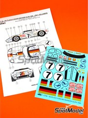 Reji Model: Marking / livery 1/24 scale - Ford GT40 Mk II Auto Zeitung #7 - Reinhold Joest (DE) + Helmut Kelleners (DE) - Watkins Glen 6 Hours 1969 - water slide decals and assembly instructions - for Fujimi references FJ12101, FJ12125, FJ12139, FJ12147, FJ12148, FJ12158, FJ12159, FJ12160, FJ12161, FJ12172, FJ12306, FJ123066, FJ126043, FJ126050 and FJ126067 image