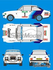 Reji Model: Marking / livery 1/24 scale - Ford Escort RS 1800 NCR Computers #1, 3 - Hannu Mikkola (FI) + Arne Hertz (SE), Björn Waldegård (SE) + Hans Thorszelius (SE) - Portugal Rally 1979 - water slide decals and assembly instructions - for Italeri reference 3655, or Revell reference REV07374