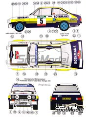 Reji Model: Marking / livery 1/24 scale - Ford Escort Mk. II RS 1800 Rothmans #5 - Ari Vatanen (FI) + Peter Bryant (GB) - Portugal Rally 1979 - water slide decals and assembly instructions - for Italeri references 3650 and 3655, or Revell references REV07374 and 7374