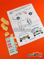 Reji Model: Decoración escala 1/24 - Ford Escort Mk II Daily Mirror - Rally de Inglaterra RAC 1979 - piezas de resina, calcas de agua y manual de instrucciones - para las referencias de Italeri 3650 y 3655, o las referencias de Revell REV07374 y 7374