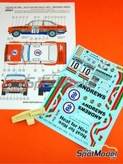 Reji Model: Marking / livery 1/24 scale - Ford Escort RS 1800 Andrews #10 - Brookes - RAC Rally 1979 - resin parts, water slide decals and assembly instructions - for Italeri reference 3655, or Revell reference REV07374