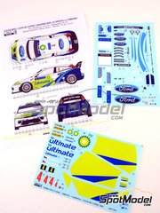 Reji Model: Marking / livery 1/24 scale - Ford Focus WRC BP #4 - Roman Kresta (CZ) + Jan Tománek (CZ) - Tour de Corse 2005 - water slide decals and assembly instructions - for Hasegawa references 20240 and 20263 image