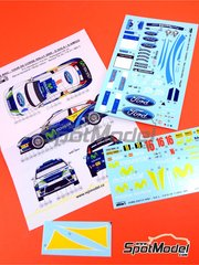 Reji Model: Marking / livery 1/24 scale - Ford Focus WRC Movistar #16 - Daniel 'Dani' Solà (ES) - Tour de Corse 2005 - water slide decals and assembly instructions - for Hasegawa references 20240 and 20263 image