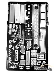 Reji Model: Detail up set 1/24 scale - Lancia 037 Rally - photo-etched parts and assembly instructions - for Hasegawa kits 20264, 20277, 20299 and 25030