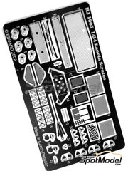 Reji Model: Detail up set 1/24 scale - Lancia Stratos HF - photo-etched parts and assembly instructions - for Hasegawa references 20217, 20261, 20268, 20282, 20361, 25032, CR-32, 25036, CR-36, HACR32, 25032, CR-32, HACR33, 25033 and CR-33