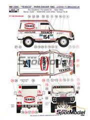 Reji Model: Transkit 1/24 scale - Mercedes 230G Texaco #154 - Jacques Bernard 'Jacky' Ickx (BE) + Claude Brasseur (FR) - Paris Dakar Rally 1982 - for Revell + Italeri + ESCI kit