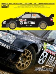 Reji Model: Marking / livery 1/24 scale - Subaru Impreza WRC Imatra #46 - Valentino Rossi (IT) - New Zealand rally 2005 - water slide decals and assembly instructions - for Hasegawa references 20353 and HACR35, or Tamiya reference TAM24281