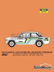 Reji Model: Decoración escala 1/24 - Fiat 131 Abarth Nº 7 - Björn Waldegård (SE) + Hans Thorszelius (SE) - Rally de Montecarlo 1980 - calcas de agua, manual de instrucciones e instrucciones de pintado - para las referencias de Italeri 3662, ITA3662, 3662S, ITA3690 y 3690, o las referencias de Revell REV07311 y 07311