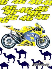Reji Model: Marking / livery 1/12 scale - Yamaha YZR M1 Camel #46 - Valentino Rossi (IT) - Motorcycle World Championship 2006 - water slide decals and assembly instructions - for Tamiya references TAM14104 and TAM14105