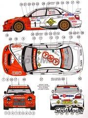 Reji Model: Marking / livery 1/24 scale - Subaru Impreza WRX TNT #1 - Leszek Kuzaj (PL) + Lukas - Rally Rajd Warszawski 2003 - water slide decals and assembly instructions