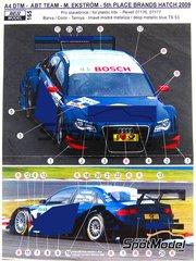 Reji Model: Marking 1/24 scale - Audi A4 #5 - Mattias Ekstrom (SE) - DTM 2009 - for Revell kits REV07176 and REV07177
