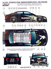 Reji Model: Marking / livery 1/24 scale - Audi A4 Playboy Rosberg Team #12 - Markus Winkelhock (DE) - DTM 2009 - water slide decals and assembly instructions - for Revell references REV07176 and REV07177