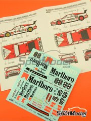 Reji Model: Marking / livery 1/24 scale - BMW M1 Group A Marlboro Procar #88 - John Watson (GB), Niki Lauda (AT) - 1000 Kms Brands Hatch, Monaco Formula 1 Grand Prix 1980 - water slide decals and assembly instructions - for Revell references REV07247, 07247 and 80-7247